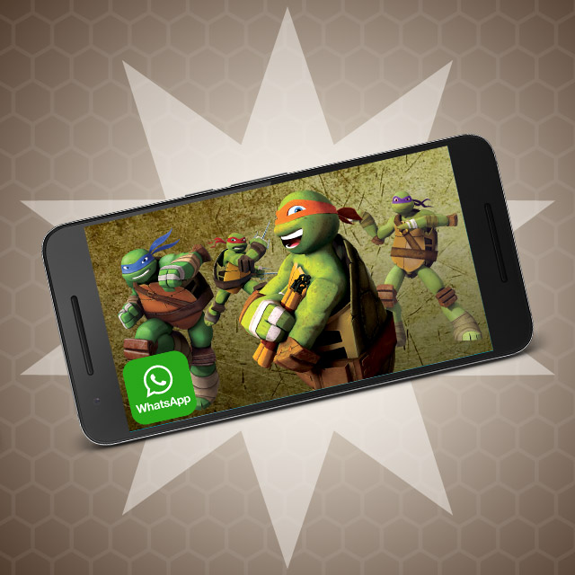 Video Invitación Tortugas Ninja Whatsapp Digital